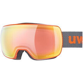 UVEX Compact FM Goggles orange mat/mirror rainbow rose